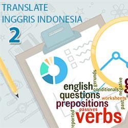 Translate Inggris Indonesia dari Jenis Kata dan