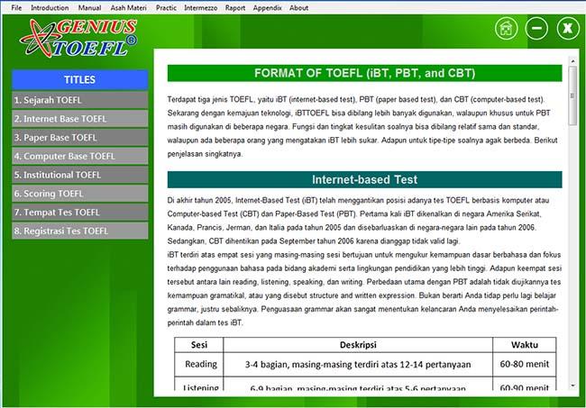 Download Software Toefl Cara Mudah Belajar Toefl
