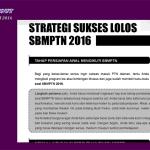 Info penting sbmptn dan snmptn 2016